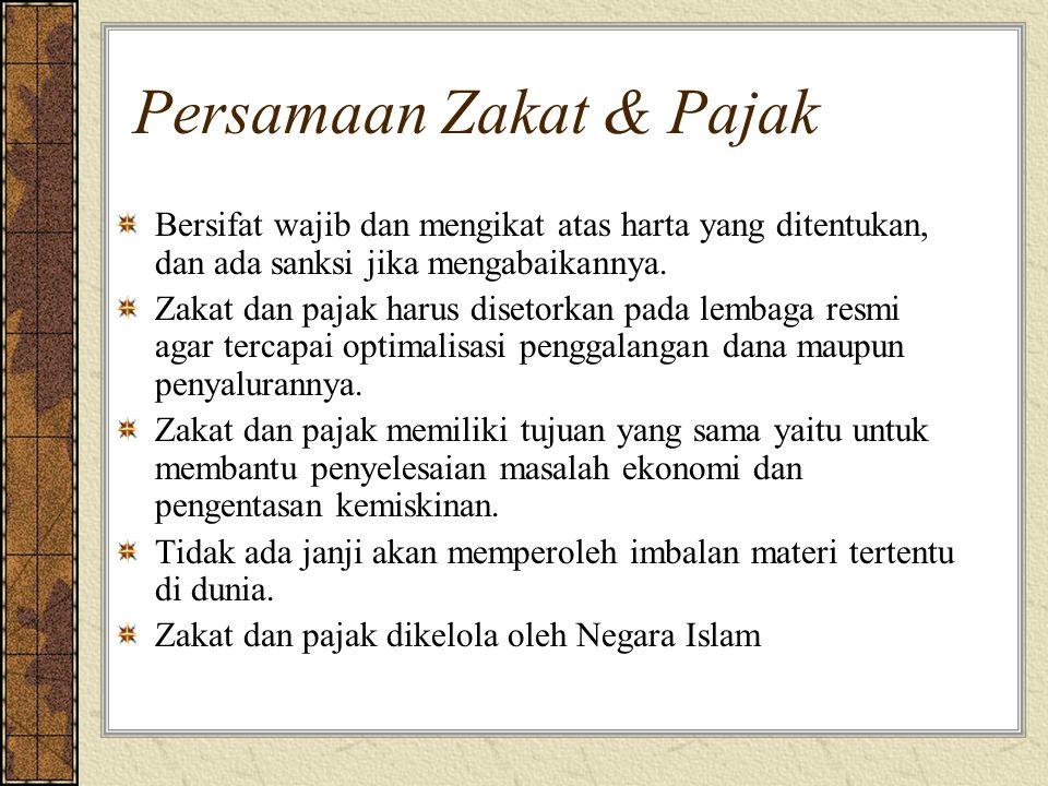 Persamaan Zakat & Pajak