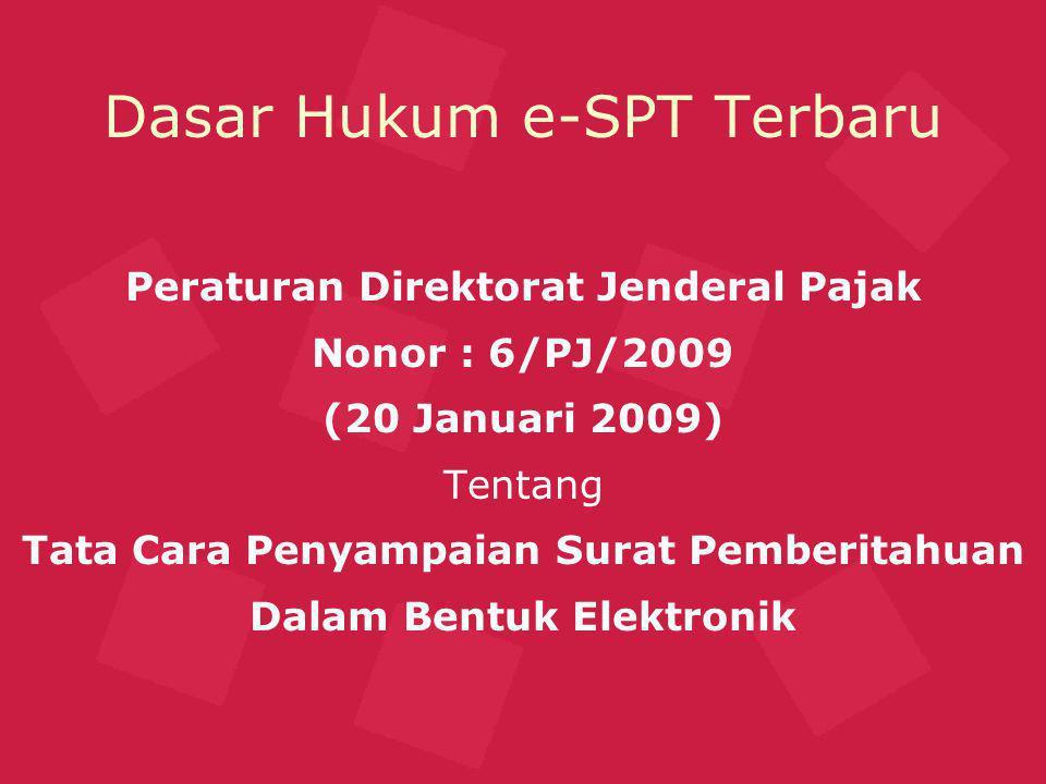 Dasar Hukum e-SPT Terbaru