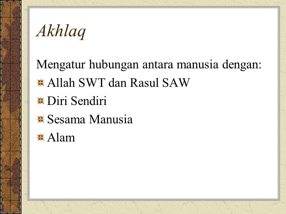 Akhlaq Mengatur hubungan antara manusia dengan: