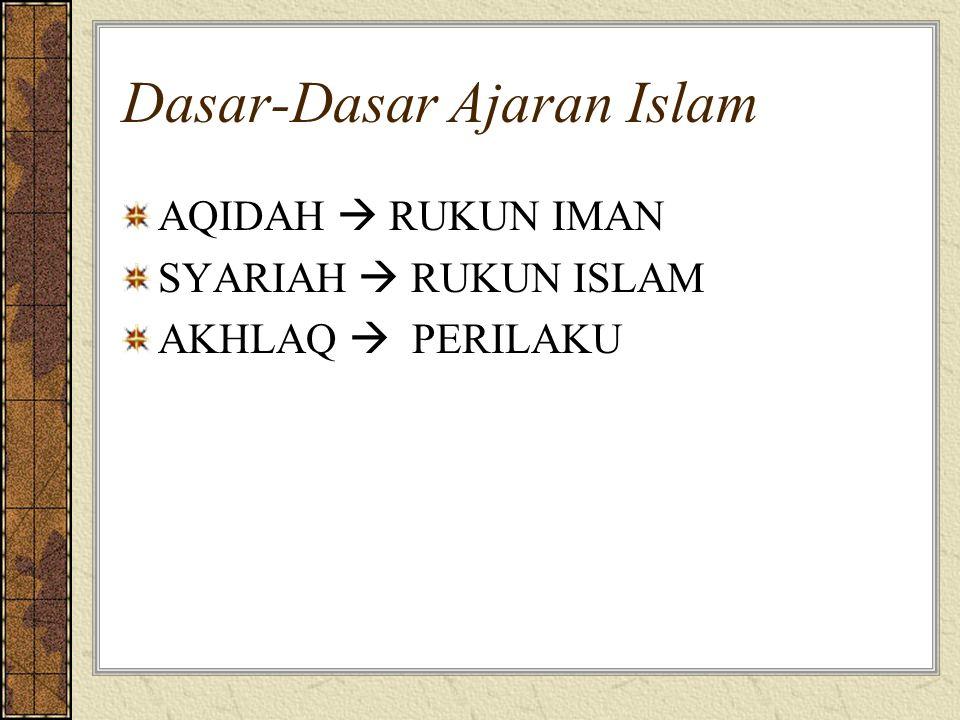 Dasar-Dasar Ajaran Islam