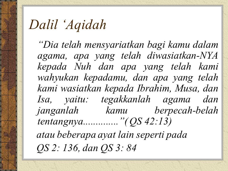 Dalil 'Aqidah