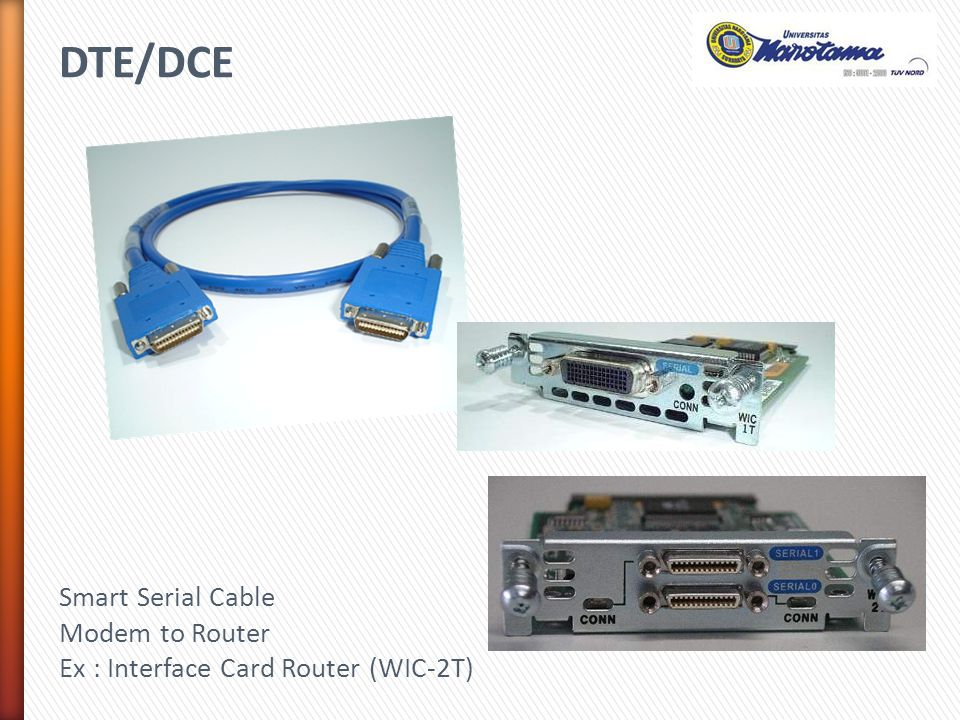 DTE/DCE Smart Serial Cable Modem to Router