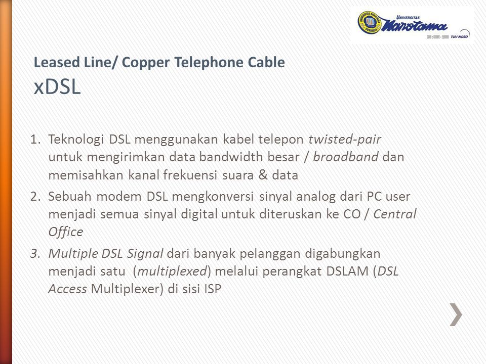 xDSL Leased Line/ Copper Telephone Cable