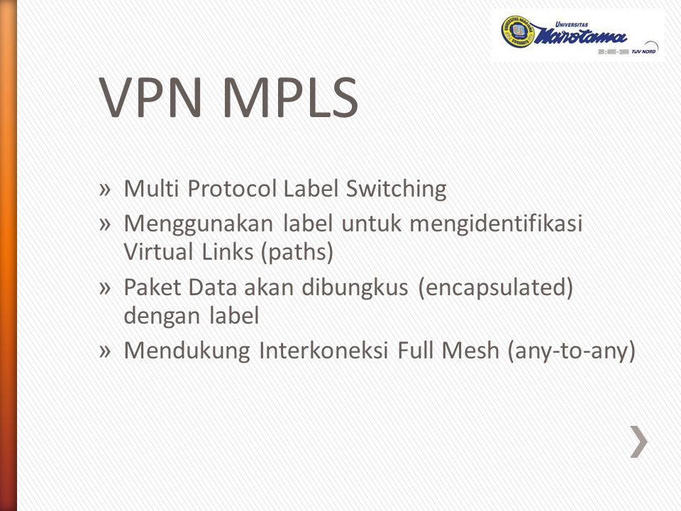 VPN MPLS Multi Protocol Label Switching