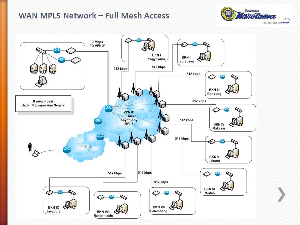 WAN MPLS Network – Full Mesh Access