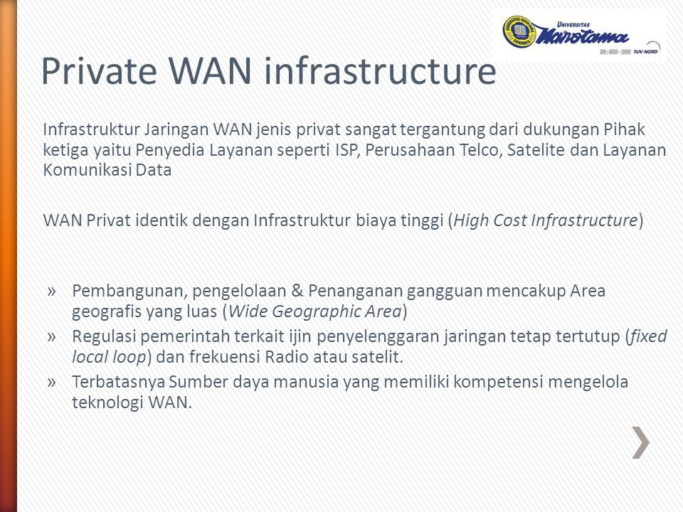 Private WAN infrastructure