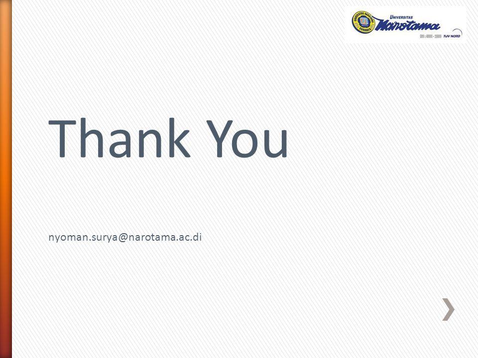 Thank You nyoman.surya@narotama.ac.di