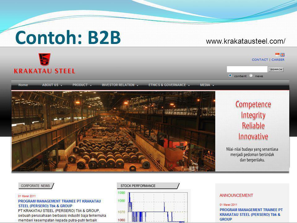 Contoh: B2B www.krakatausteel.com/