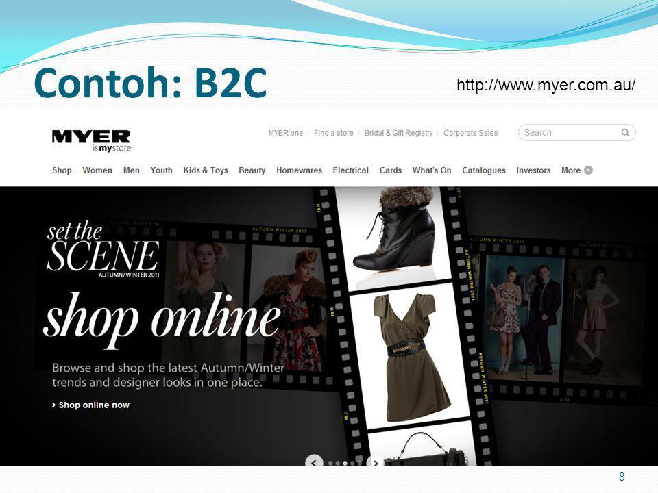 Contoh: B2C http://www.myer.com.au/