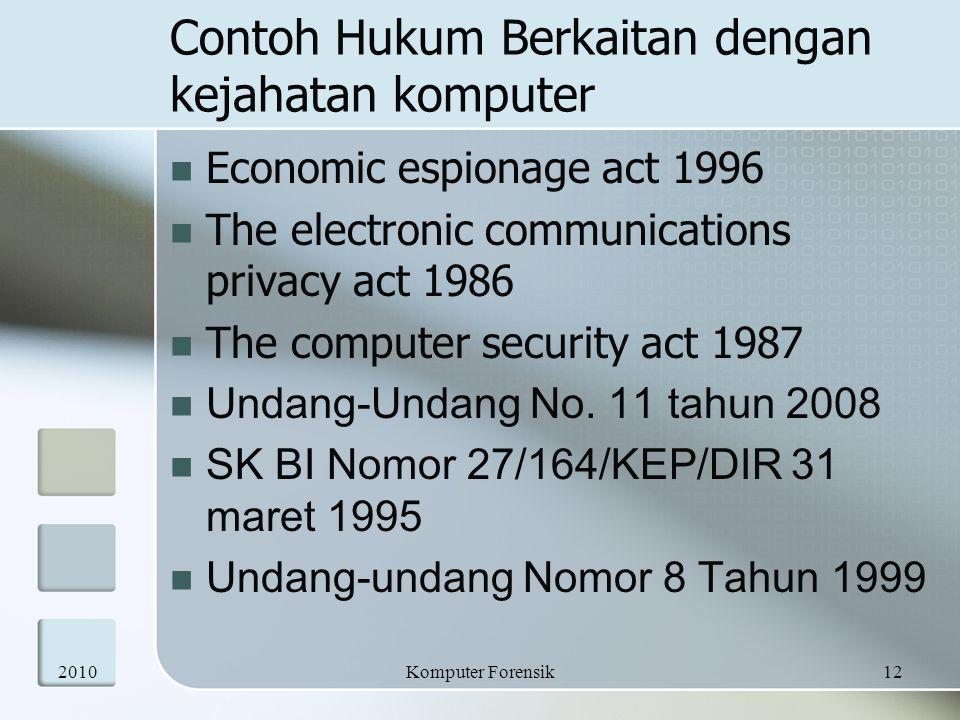 Contoh Hukum Berkaitan dengan kejahatan komputer