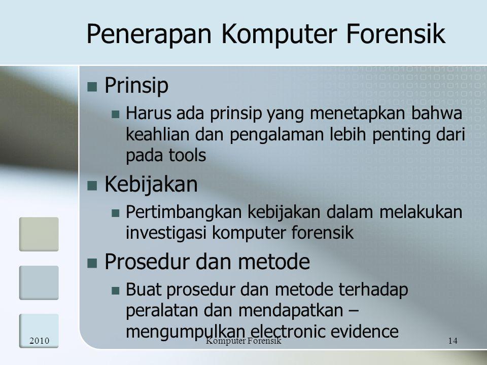 Penerapan Komputer Forensik
