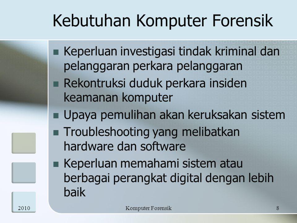 Kebutuhan Komputer Forensik