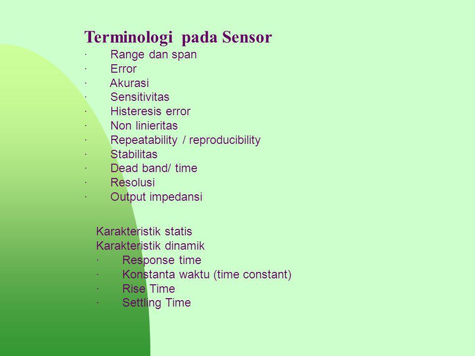 Terminologi pada Sensor