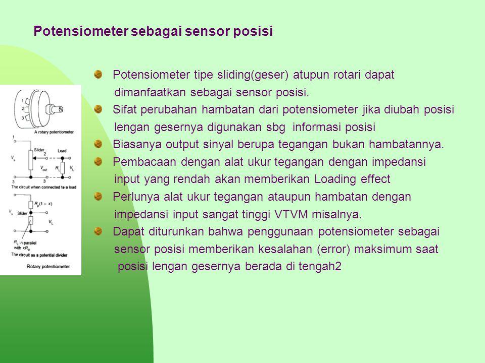 Potensiometer sebagai sensor posisi