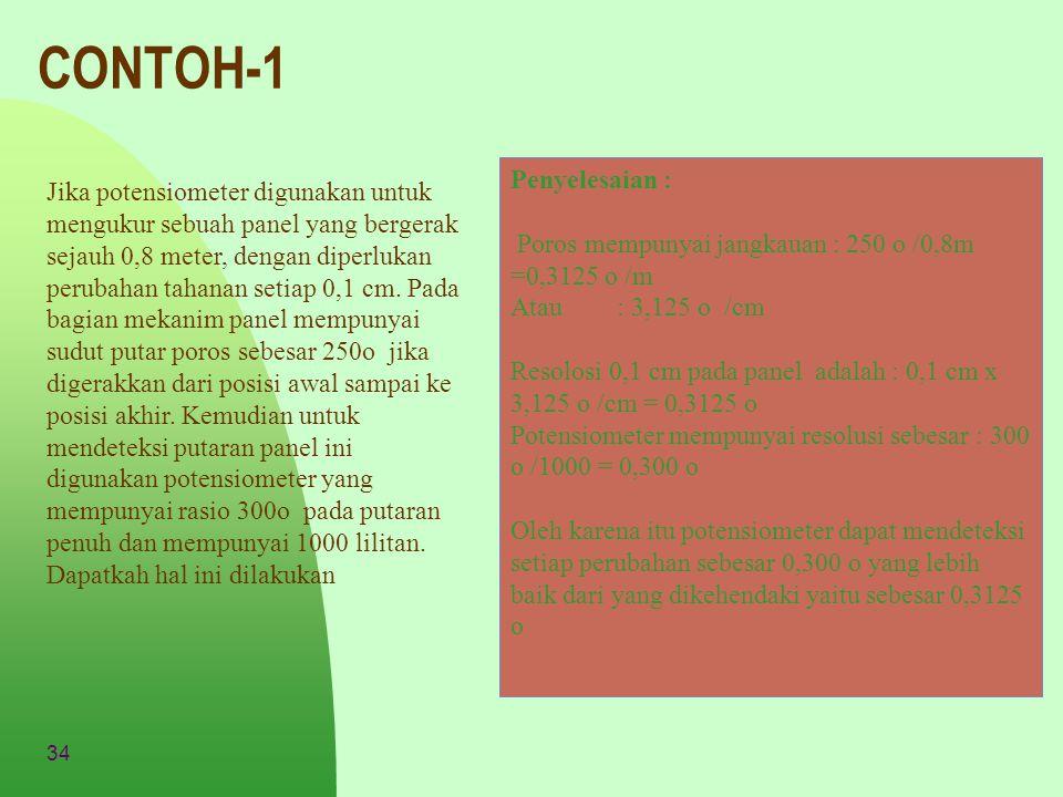 CONTOH-1 Penyelesaian :