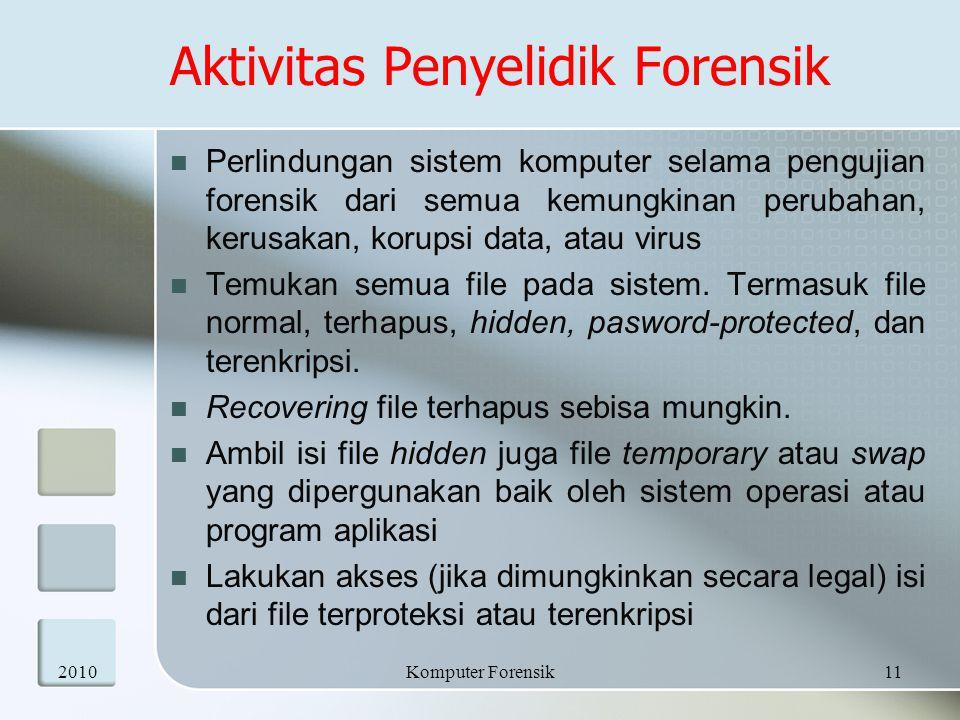 Aktivitas Penyelidik Forensik