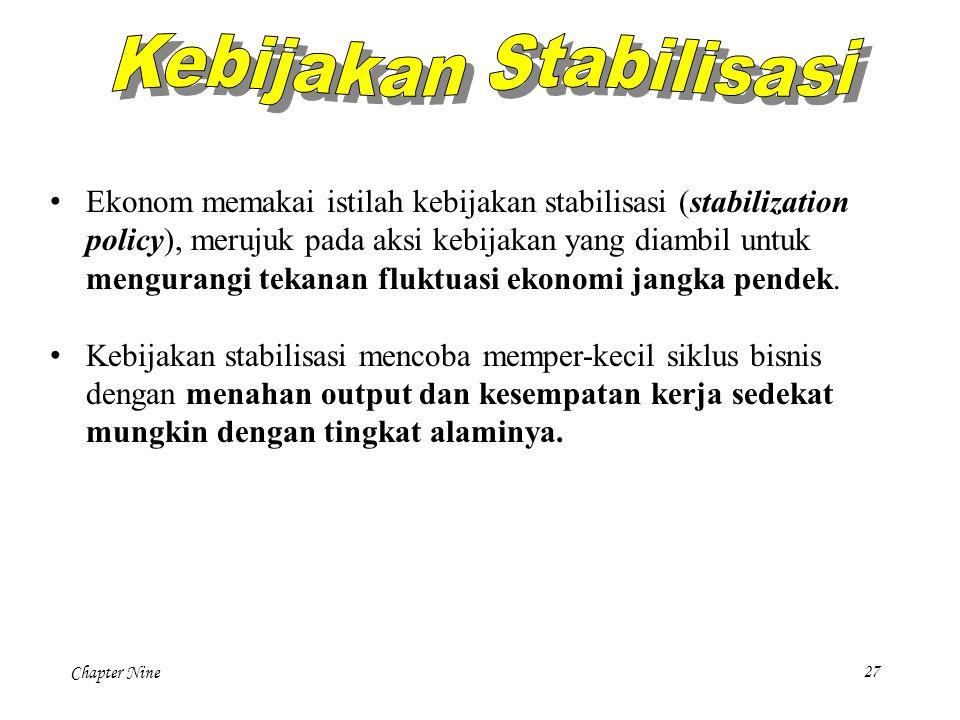 Kebijakan Stabilisasi