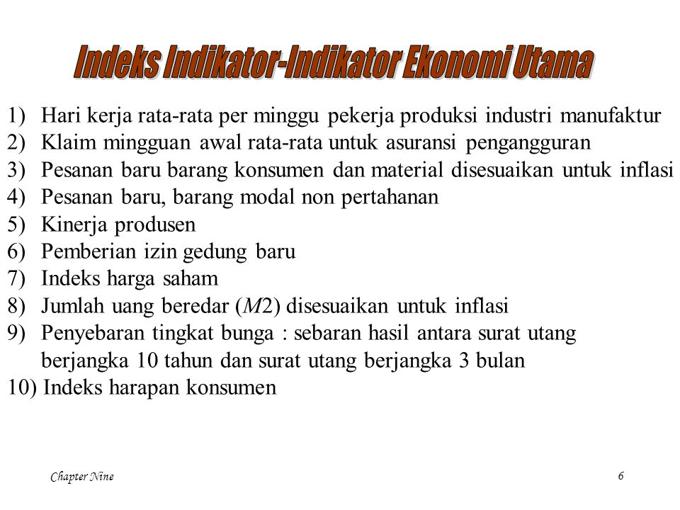 Indeks Indikator-Indikator Ekonomi Utama