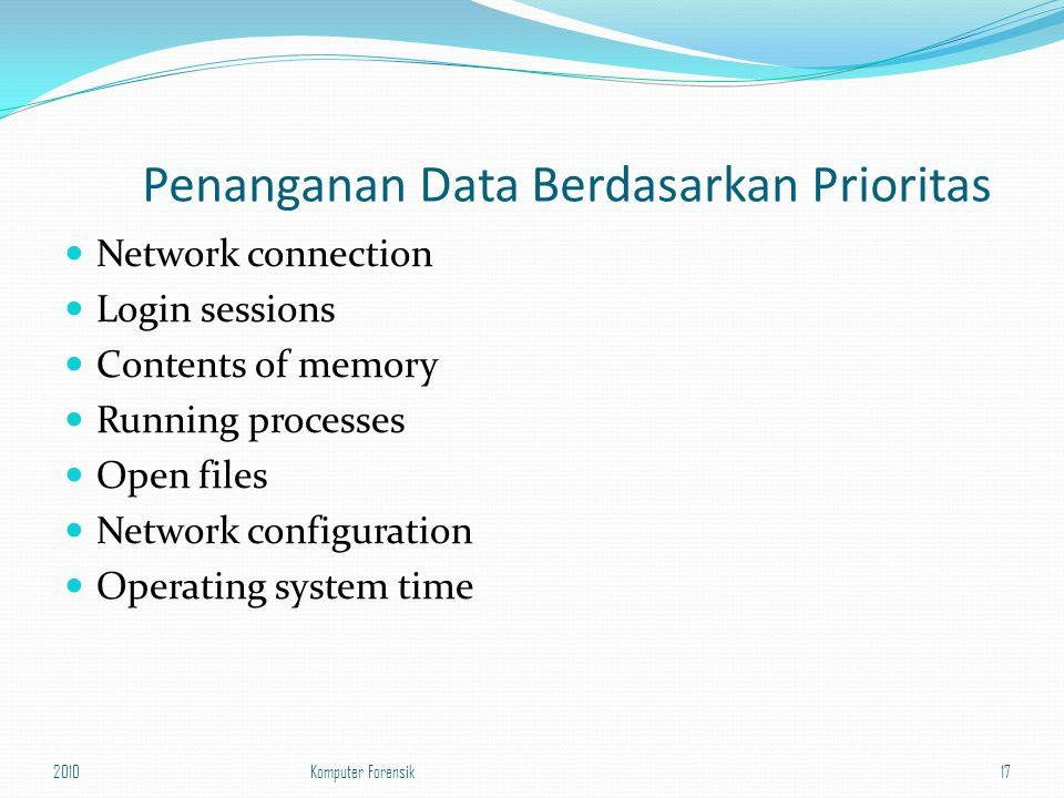 Penanganan Data Berdasarkan Prioritas