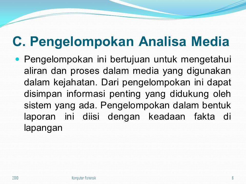 C. Pengelompokan Analisa Media