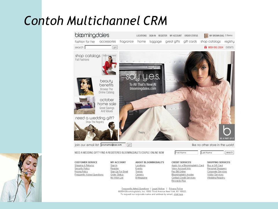 Contoh Multichannel CRM