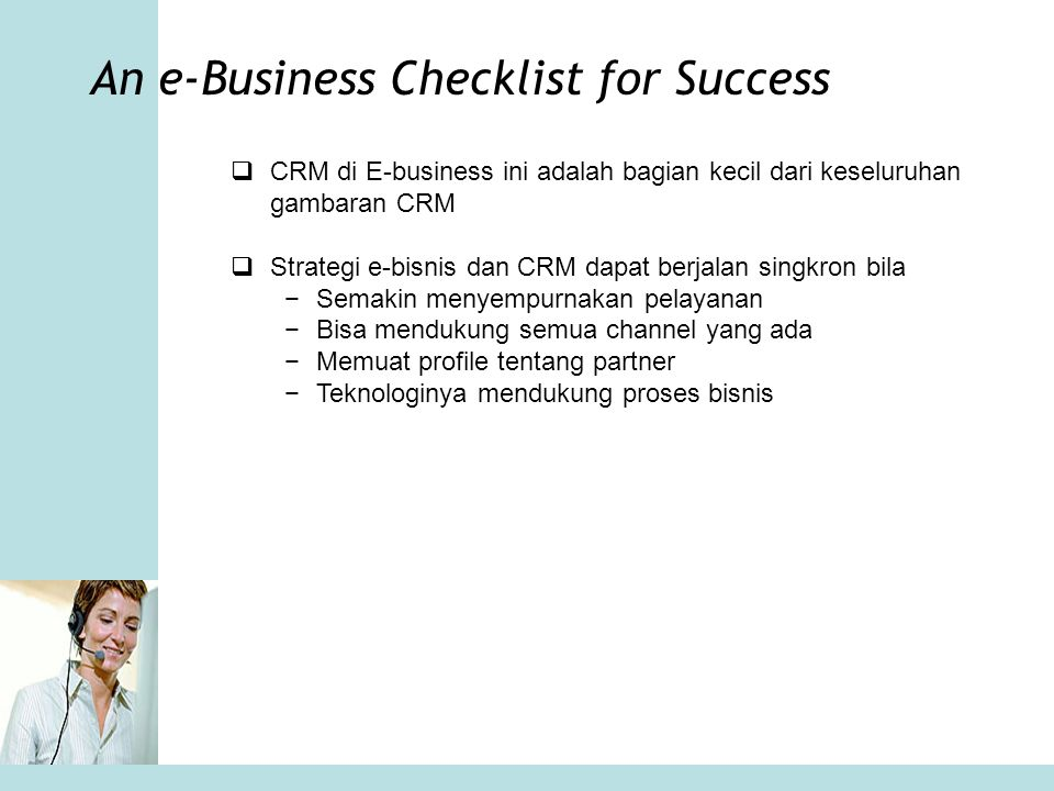 An e-Business Checklist for Success