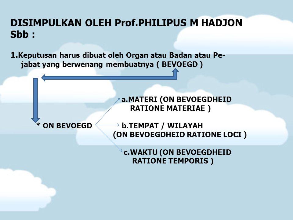 DISIMPULKAN OLEH Prof.PHILIPUS M HADJON Sbb :