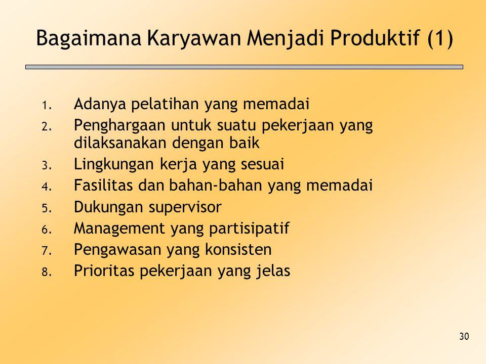 Bagaimana Karyawan Menjadi Produktif (1)