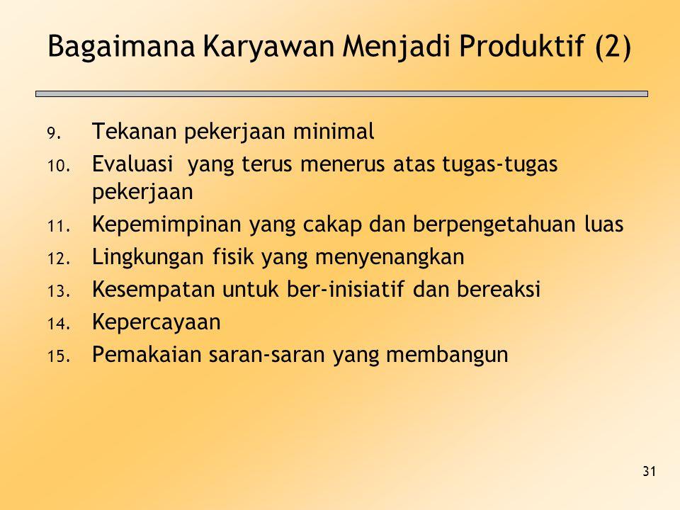 Bagaimana Karyawan Menjadi Produktif (2)