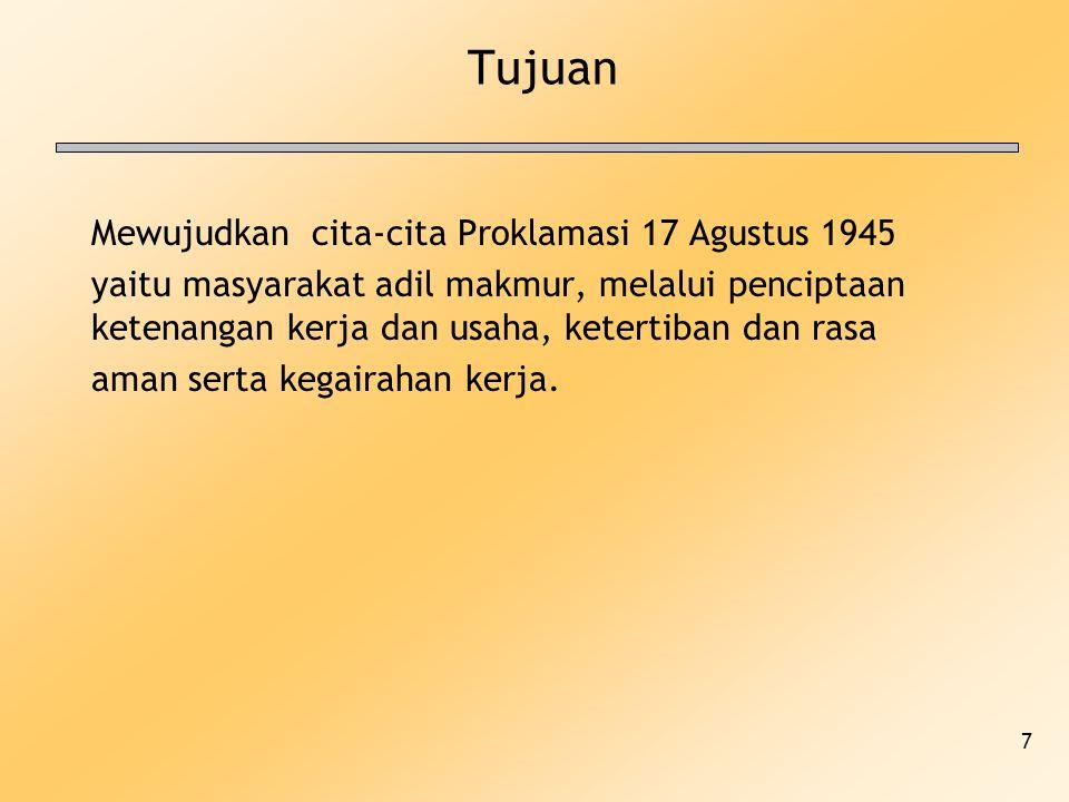 Tujuan Mewujudkan cita-cita Proklamasi 17 Agustus 1945