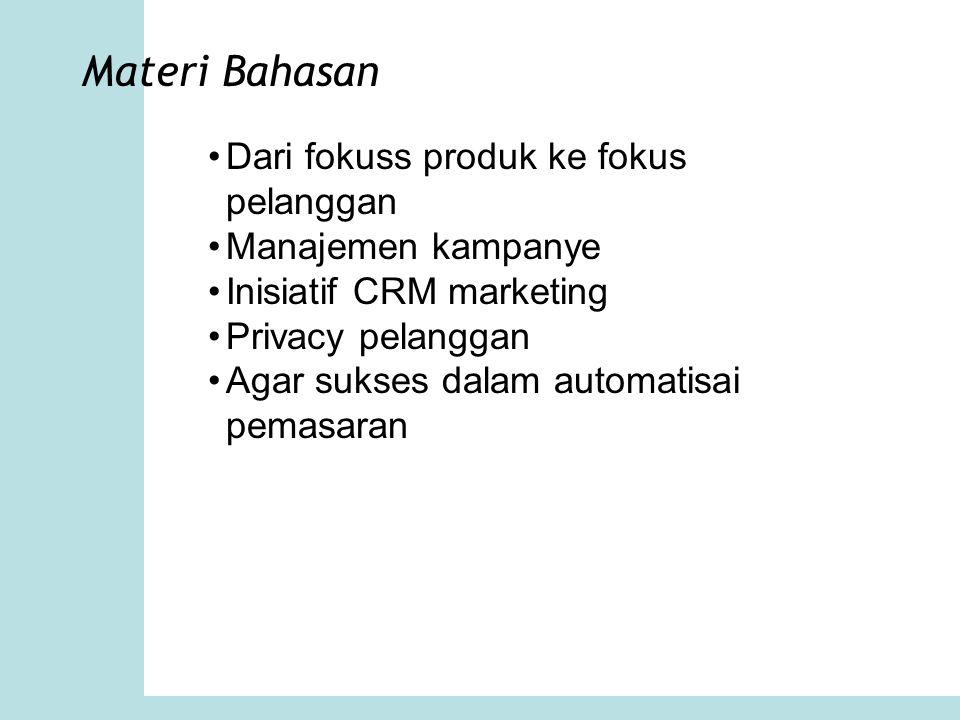 Materi Bahasan Dari fokuss produk ke fokus pelanggan
