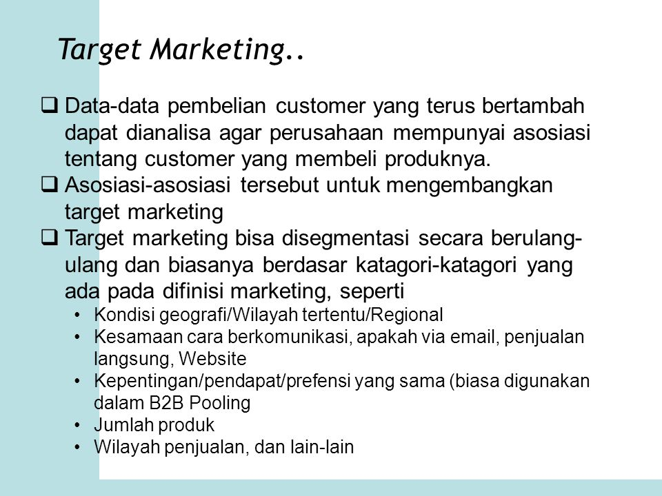 Target Marketing..