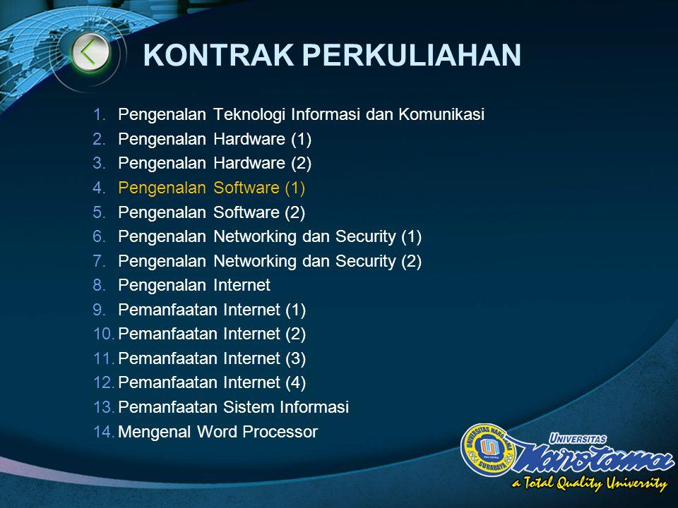 KONTRAK PERKULIAHAN Pengenalan Teknologi Informasi dan Komunikasi