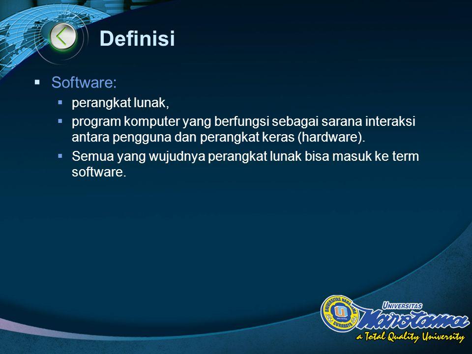 Definisi Software: perangkat lunak,