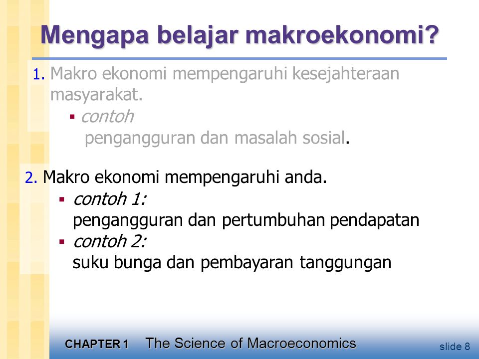 Pengangguran dan pertumbuhan pendapatan