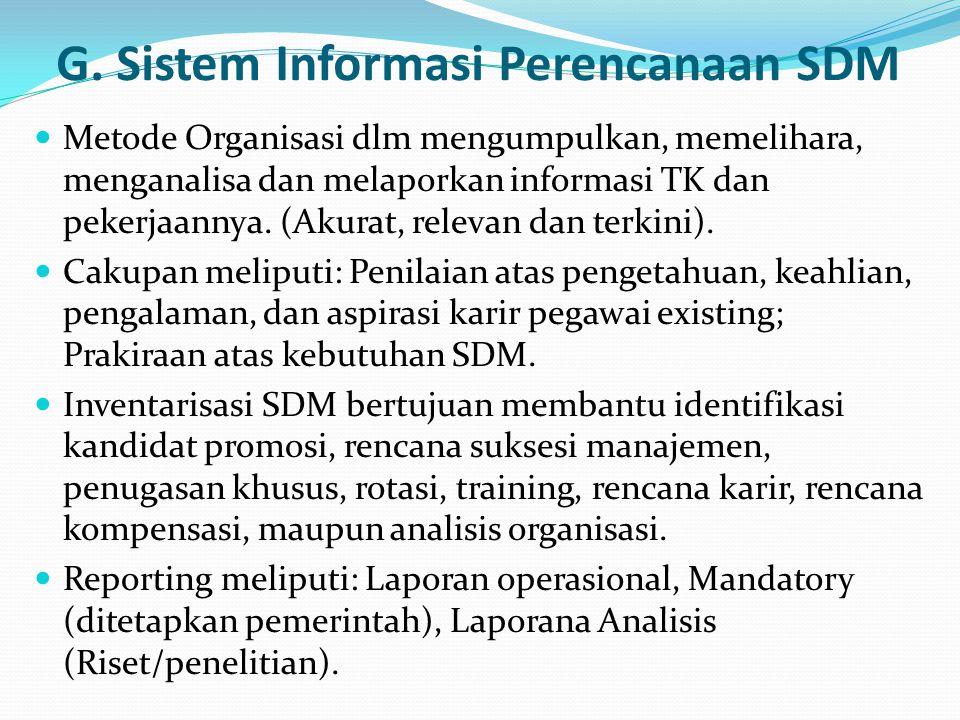 G. Sistem Informasi Perencanaan SDM