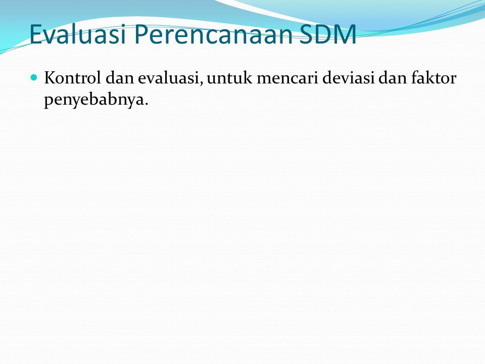 Evaluasi Perencanaan SDM