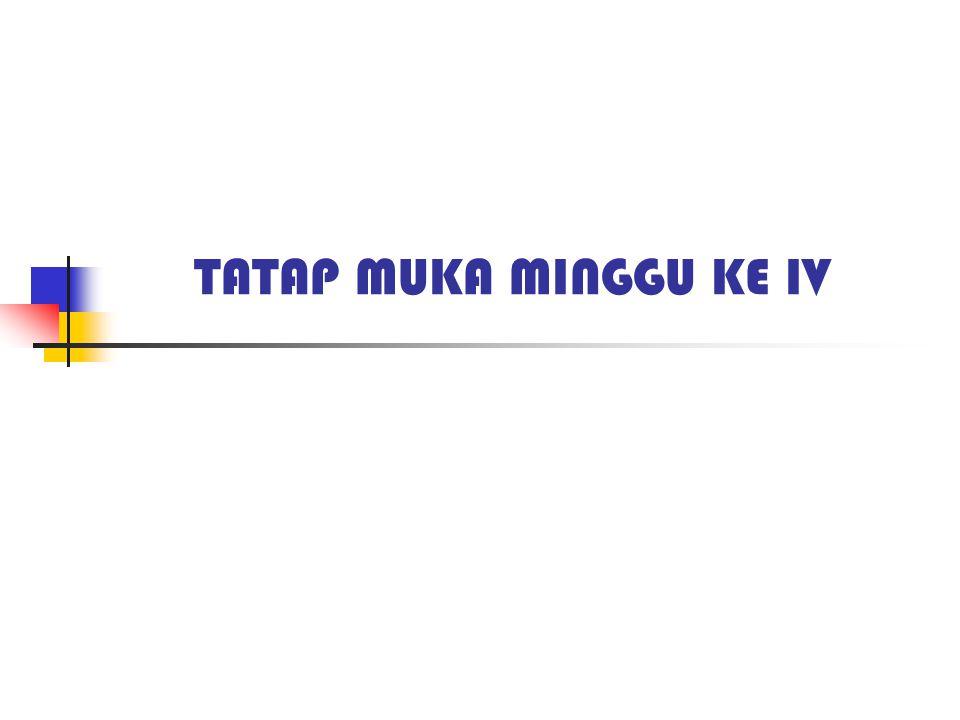 TATAP MUKA MINGGU KE IV
