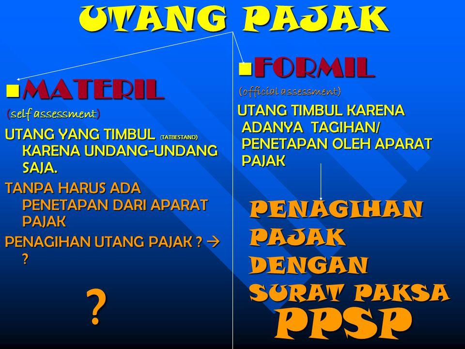 PPSP UTANG PAJAK FORMIL MATERIL PENAGIHAN PAJAK DENGAN SURAT PAKSA