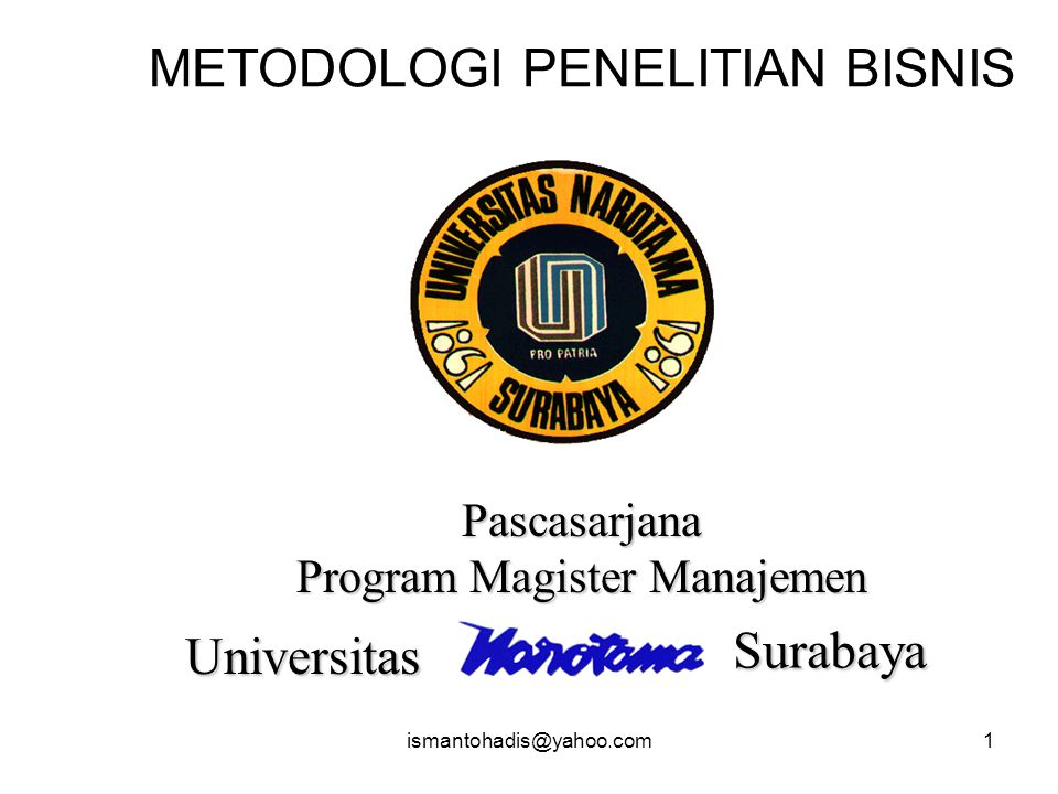 METODOLOGI PENELITIAN BISNIS