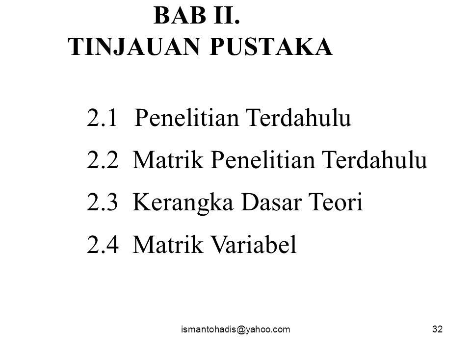 BAB II. TINJAUAN PUSTAKA