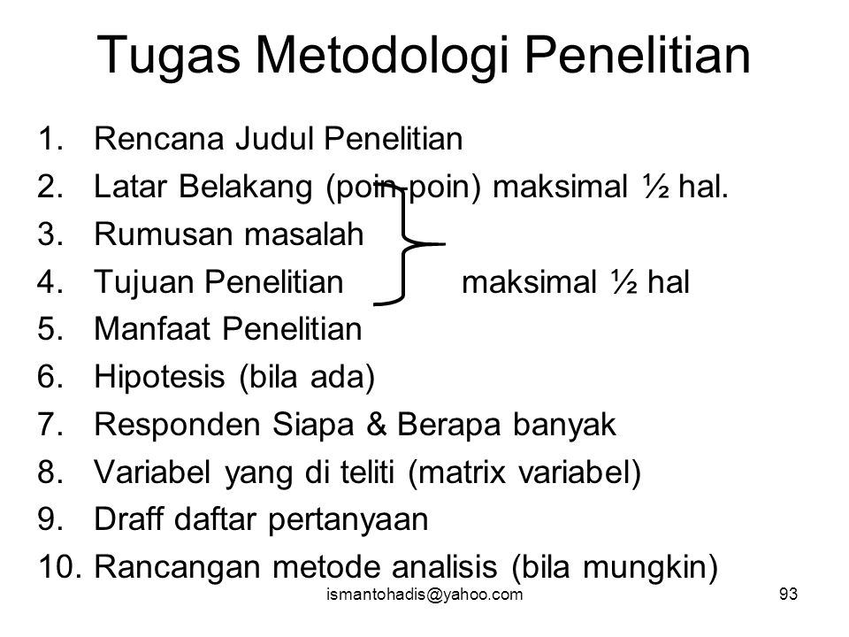 Tugas Metodologi Penelitian