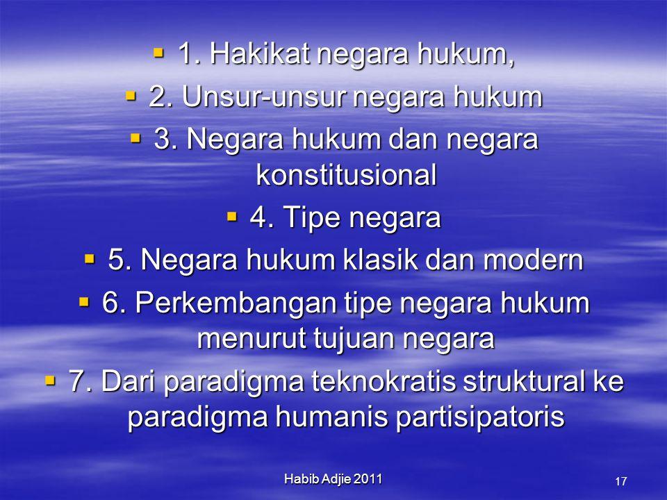 2. Unsur-unsur negara hukum 3. Negara hukum dan negara konstitusional