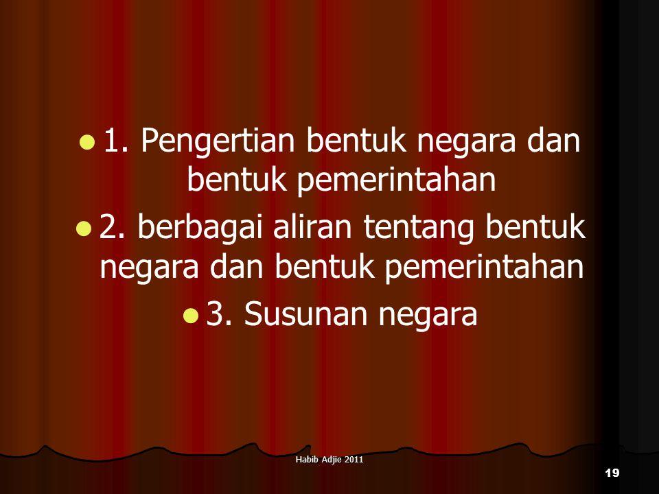 1. Pengertian bentuk negara dan bentuk pemerintahan