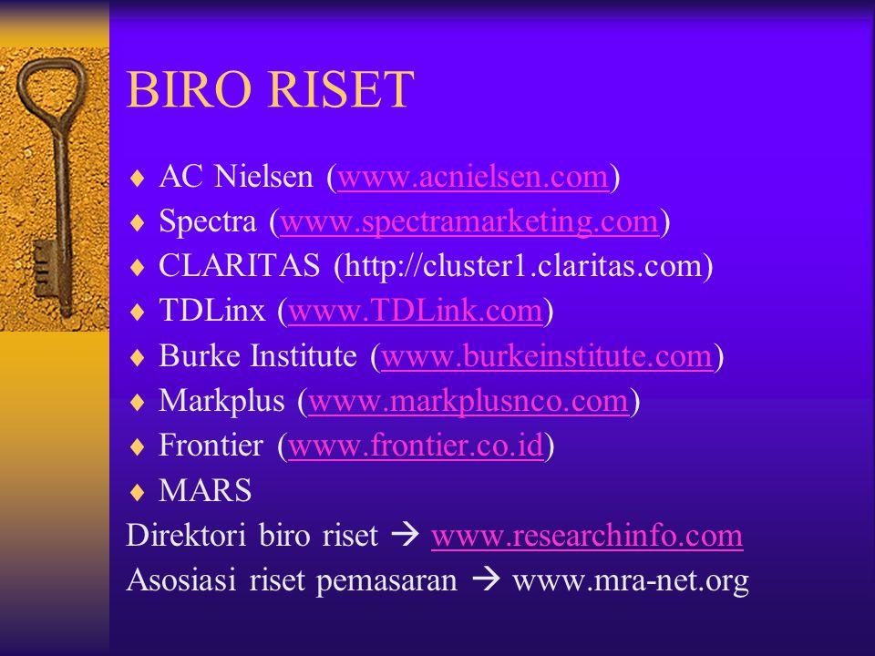 BIRO RISET AC Nielsen (www.acnielsen.com)