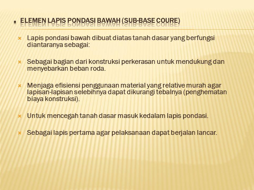 . ELEMEN LAPIS PONDASI BAWAH (SUB-BASE COURE)