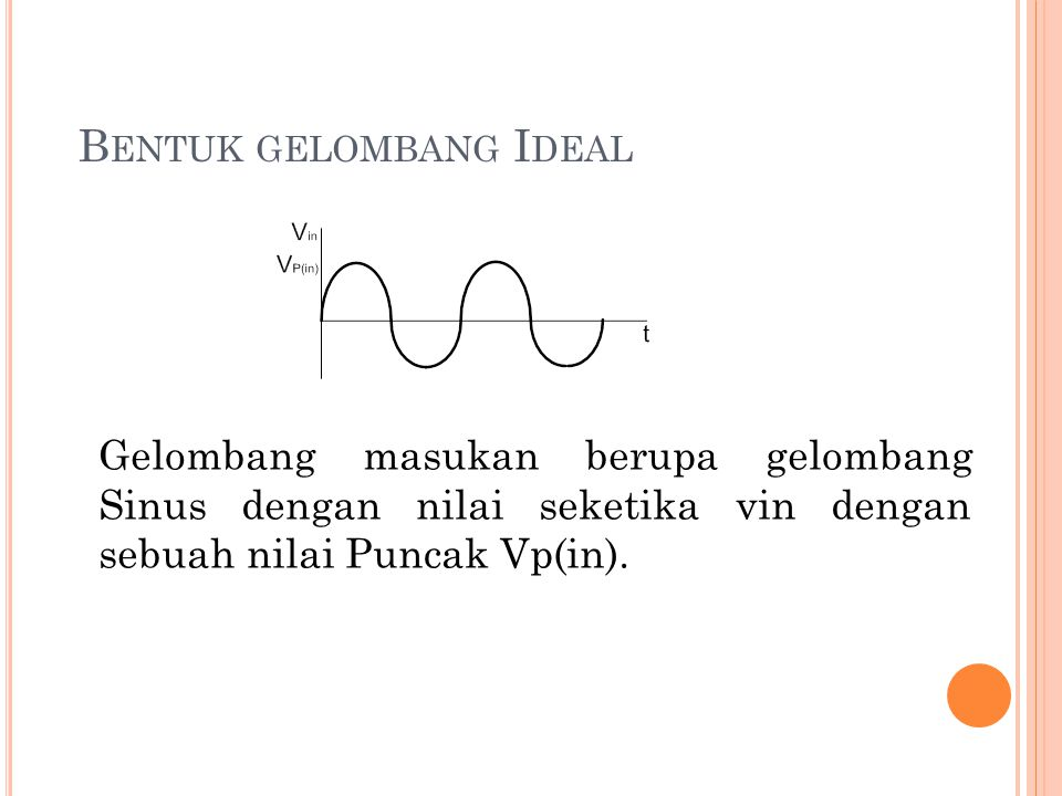 Bentuk gelombang Ideal