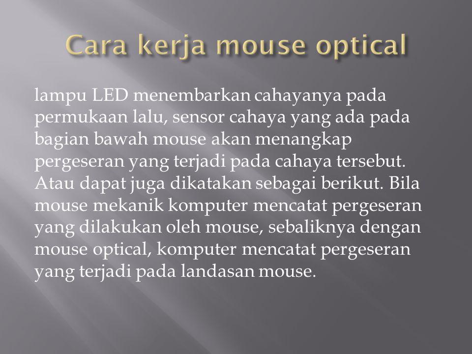 Cara kerja mouse optical