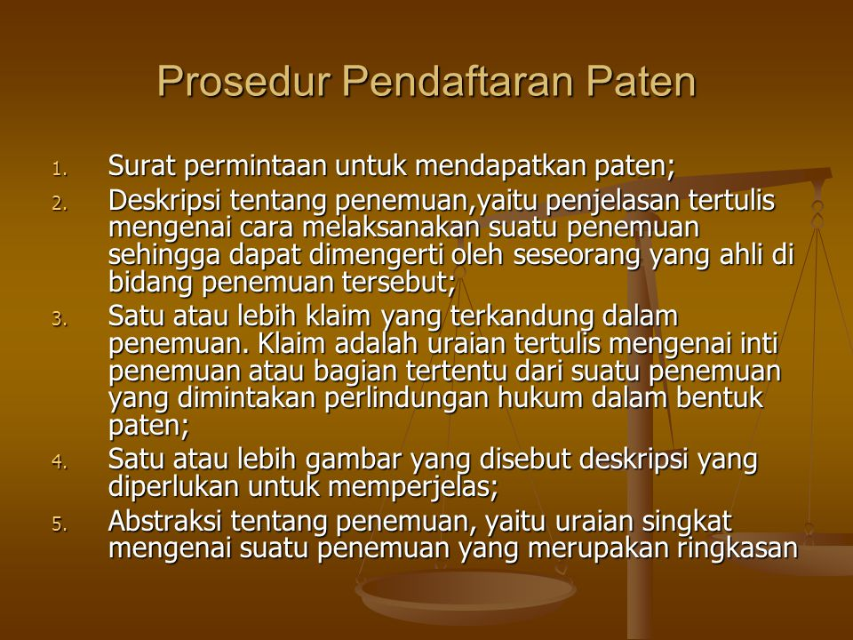 Prosedur Pendaftaran Paten