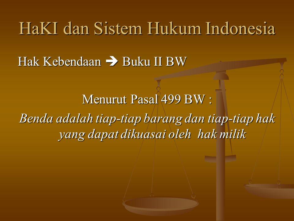HaKI dan Sistem Hukum Indonesia